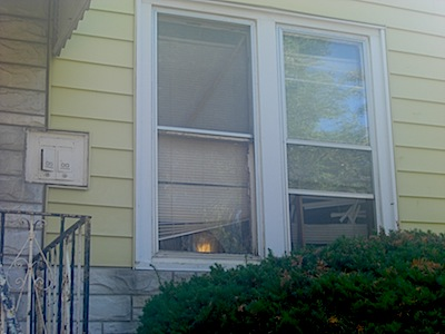 Essie Carter says police broke windows June 6th while searching her house for guns. (Photo/Kelsey Duckett)
