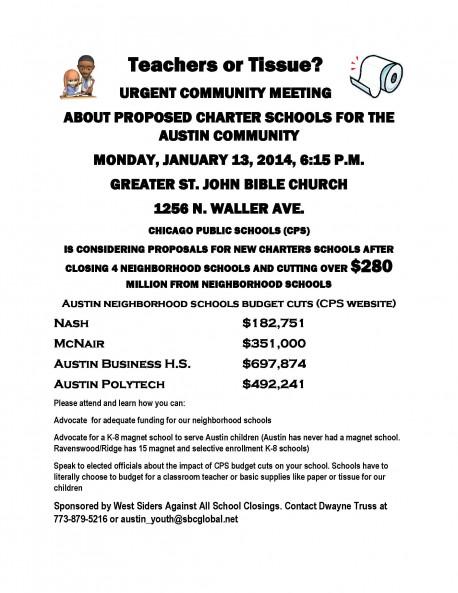 URGENT COMMUNITY MEETING Jan 13