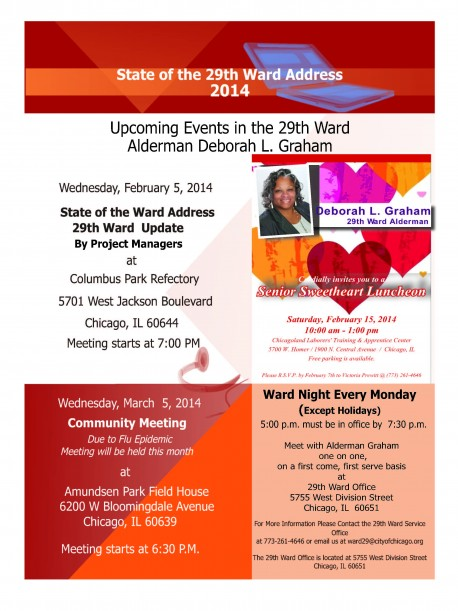State of the 29th Ward 2014 Flyer