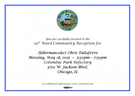 29th Ward Community Reception