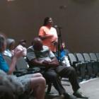 Rhonda Walton speaking at a hearing last week.