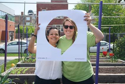 Lucy Flores, community outreach and health education manager at PCC, and Brittany Calendo, farm coordinator, participated in the May 16th conversation.
