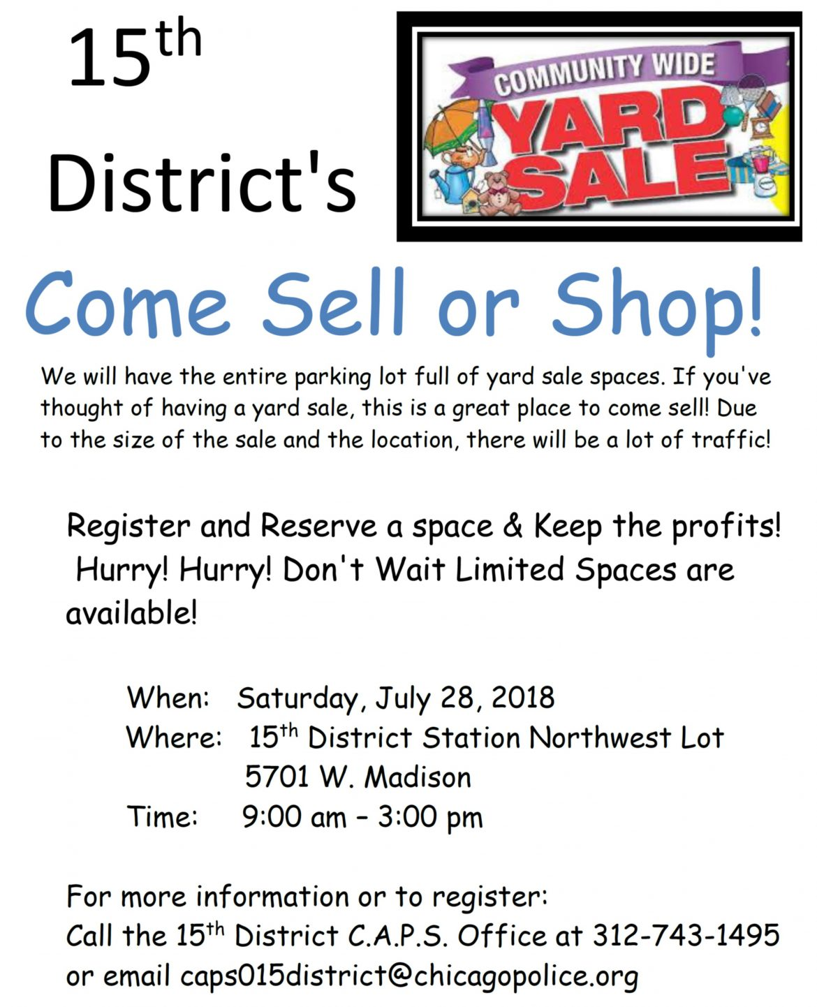 Sell, shop at 15th District garage sale Saturday   AustinTalks